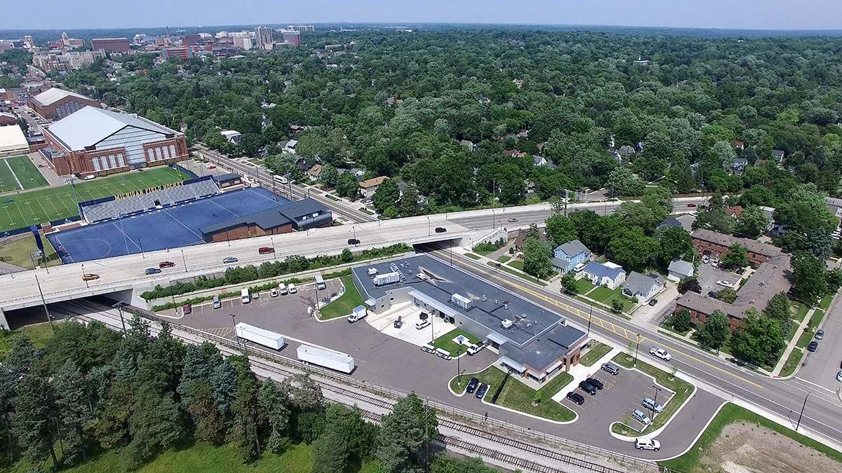 Concrete, Aerial, Ann Arbor, MI