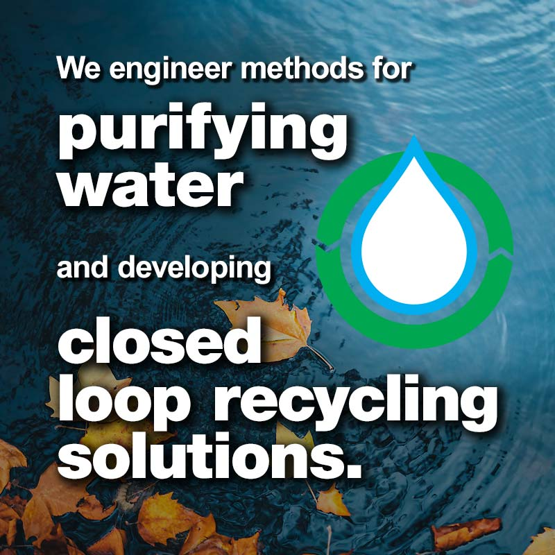 Levy, Purifying Water and Developing Closed Loop Recycling Solutions